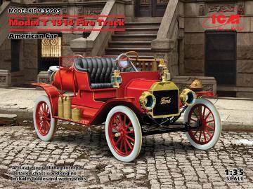 Model T 1914 Fire Truck, American Car · ICM 35605 ·  ICM · 1:35
