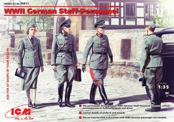 WWII German Staff Personnel · ICM 35611 ·  ICM · 1:35
