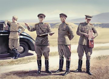 WWII Soviet Staff Personnel (1939-1945) · ICM 35612 ·  ICM · 1:35