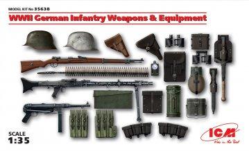 WWII Waffen und Ausrüstung, deutsche Infanterie · ICM 35638 ·  ICM · 1:35