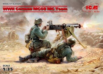 WWII German MG08 MG Team (2 figures) · ICM 35645 ·  ICM · 1:35
