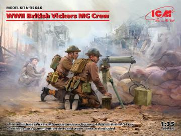 WWII British Vickers MG Crew (Vickers MG & 2 figures) · ICM 35646 ·  ICM · 1:35