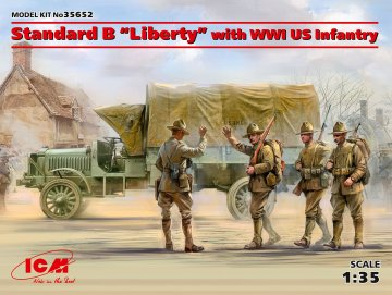 Standard B Liberty with WWI US Infantry Limited · ICM 35652 ·  ICM · 1:35