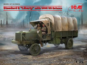 Standard B Liberty with WWI US Drivers · ICM 35653 ·  ICM · 1:35