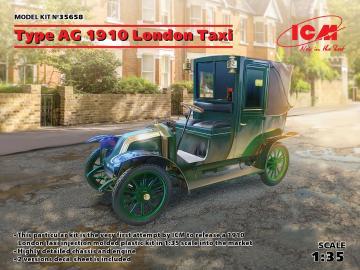 Type AG 1910 London Taxi · ICM 35658 ·  ICM · 1:35