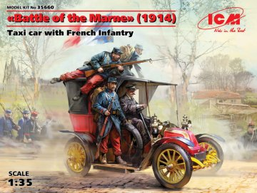 Battle of the Marne(1914),Taxi car with French Infantry · ICM 35660 ·  ICM · 1:35