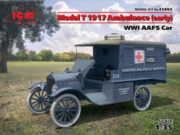 Model T 1917 Ambulance(early) WWI AAFScar · ICM 35665 ·  ICM · 1:35
