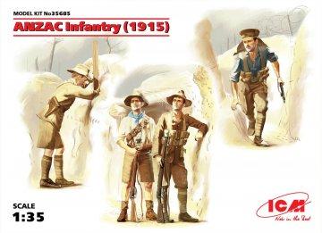 WWI ANZAC Infanterie, 4 Figuren · ICM 35685 ·  ICM · 1:35