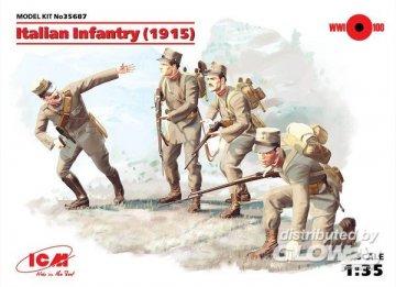 WWI Italienische Infanterie, 4 Figuren · ICM 35687 ·  ICM · 1:35