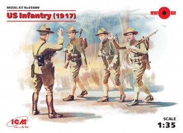 WWI US Infanterie, 4 Figuren · ICM 35689 ·  ICM · 1:35