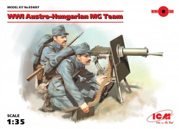 WWI Austro-Hungarian MG Team · ICM 35697 ·  ICM · 1:35