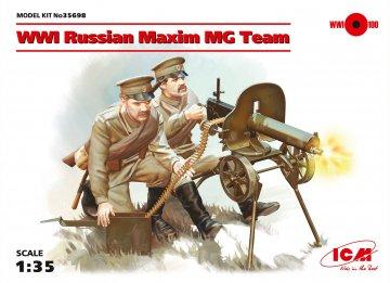 WWI Russian Maxim MG Team · ICM 35698 ·  ICM · 1:35