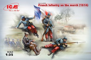 French Infantry on the march (1914) - 4 Figuren · ICM 35705 ·  ICM · 1:35