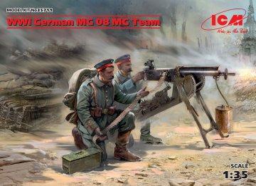 WWI German MG08 MG Team (2 figures) · ICM 35711 ·  ICM · 1:35