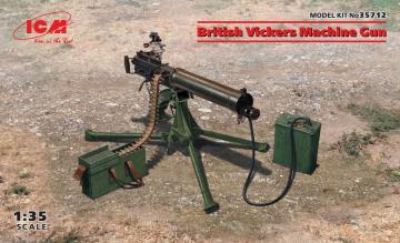 British Vickers Machine Gun · ICM 35712 ·  ICM · 1:35