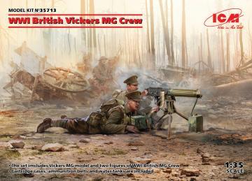 WWI British Vickers MG Crew (Vickers MG & 2figures) · ICM 35713 ·  ICM · 1:35