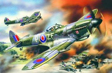 Spitfire Mk. XVI, WWII British Fighter · ICM 48071 ·  ICM · 1:48