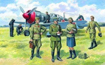 Soviet Air Force Pilots and Ground Personnel (1943-1945) · ICM 48084 ·  ICM · 1:48