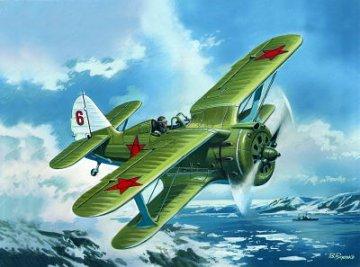 I-153 ,WWII Soviet Biplane Fighter · ICM 48095 ·  ICM · 1:48