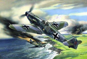 Messerschmitt Bf 109 F-2, WWII German Fighter · ICM 48102 ·  ICM · 1:48