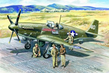Mustang P-51B, WWII American Fighter · ICM 48125 ·  ICM · 1:48