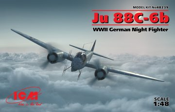 Junkers Ju 88 C-6b, WWII German Night Fighter · ICM 48239 ·  ICM · 1:48