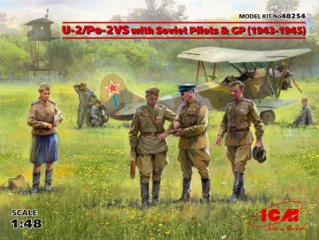 U-2/Po-2VS with Soviet Pilots & GP (1943 -1945) - Limited Edition · ICM 48254 ·  ICM · 1:48