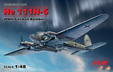 Heinkel He 111 H-6, WWII German Bomber · ICM 48262 ·  ICM · 1:48