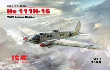 Heinkel He 111 H-16, WWII German Bomber · ICM 48263 ·  ICM · 1:48