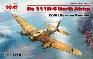 Heinkel He 111 H-6 North Africa - WWII German Bomber - Limited Edition · ICM 48265 ·  ICM · 1:48