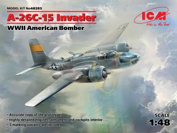 A-26-15 Invader, WWII American Bomber · ICM 48283 ·  ICM · 1:48