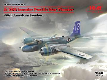 A-26 Invader Pacific War Theater, WWII American Bomber · ICM 48285 ·  ICM · 1:48