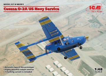 Cessna O-2A US Navy Service · ICM 48291 ·  ICM · 1:48