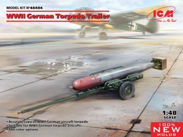 WWII German Torpedo Trailer · ICM 48404 ·  ICM · 1:48