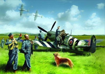 Spitfire Mk.IX with RAF Pilots & Ground Personnel · ICM 48801 ·  ICM · 1:48