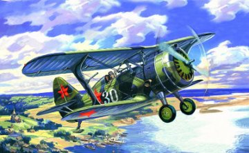 I-15 bis, WWII Soviet Fighter Biplane · ICM 72012 ·  ICM · 1:72