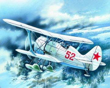 I-15 bis, WWII Soviet Fighter Biplane, Winter Version · ICM 72013 ·  ICM · 1:72