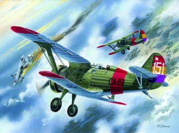 I-15 CHATO , Spanish Airforce Biplane · ICM 72061 ·  ICM · 1:72