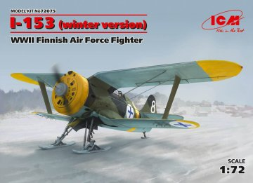 I-153,WWII Finnish Air Force Fighter winter version · ICM 72075 ·  ICM · 1:72