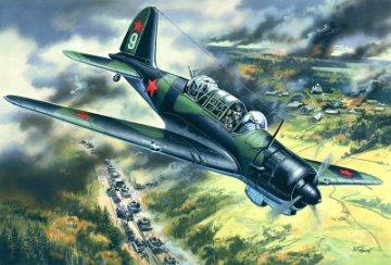 Su-2 R, WWII Soviet Reconnaissance Plane · ICM 72082 ·  ICM · 1:72