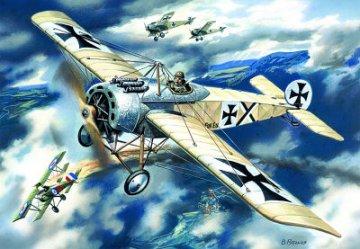 Fokker E.IV Monoplane, WWI German Fighter · ICM 72111 ·  ICM · 1:72