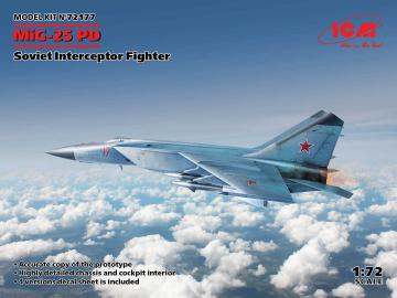 MiG-25 PD, Soviet Interceptor Fighter · ICM 72177 ·  ICM · 1:72