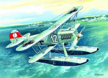 Heinkel He 51 B2 German Fighter Sea Plane · ICM 72192 ·  ICM · 1:72