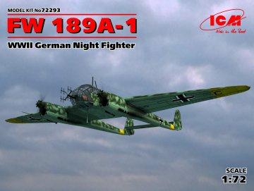 Focke-Wulf Fw 189 A-1 WWII German Night Fighter · ICM 72293 ·  ICM · 1:72