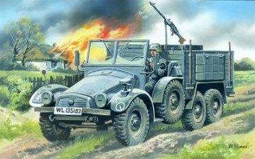Krupp L2H143  Kfz.70, German Light Army Truck · ICM 72451 ·  ICM · 1:72
