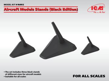 Aircraft Models Stands (Black Edition)(for 1:144, 1:72, 1:48 und 1:32) · ICM A002 ·  ICM