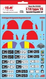 I-16 type 10 Spanish Republic AF · ICM D3202 ·  ICM · 1:32