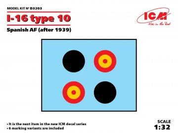 I-16 type 10 Spanish AF (after 1939) · ICM D3203 ·  ICM · 1:32