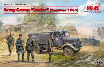 Army Group Center (Summer 1941) (Kfz1, Typ L3000S, German Infantry (4 figures) - German Drivers) · ICM DS3502 ·  ICM · 1:35