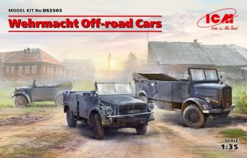 Wehrmacht Off-road Cars (Kfz1,Horch 108 Typ 40, L1500A) · ICM DS3503 ·  ICM · 1:35